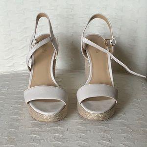 Michael Kors Cream Wedge Sandals
